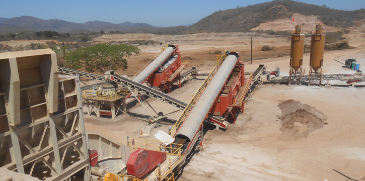 screening high-moisture gold ore
